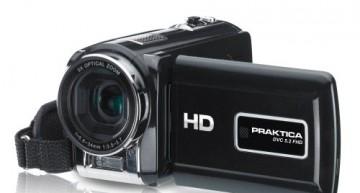 Praktica DVC 5.2 HD-Camcorder (5 Megapixel, 5-fach opt. Zoom, 3,0″ Display, SDHC-kompatibel)