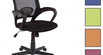 SixBros. Bürostuhl Drehstuhl Schreibtischstuhl Schwarz
