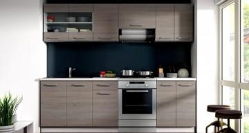 Küche Dave Küchenzeile / Küchenblock variabel stellbar in Eiche Sonoma Trüffel