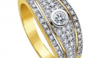 Diamond Line Damen-Ring Diamant 14 Karat Gelbgold